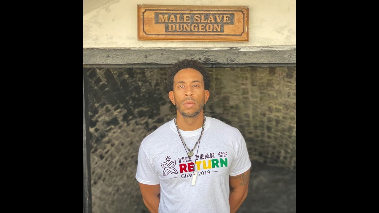 Rapper Ludacris Visits Cape Coast Castle Dungeon, Ghana