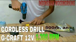 Bor Baterai Cordless Drill G-craft 12V
