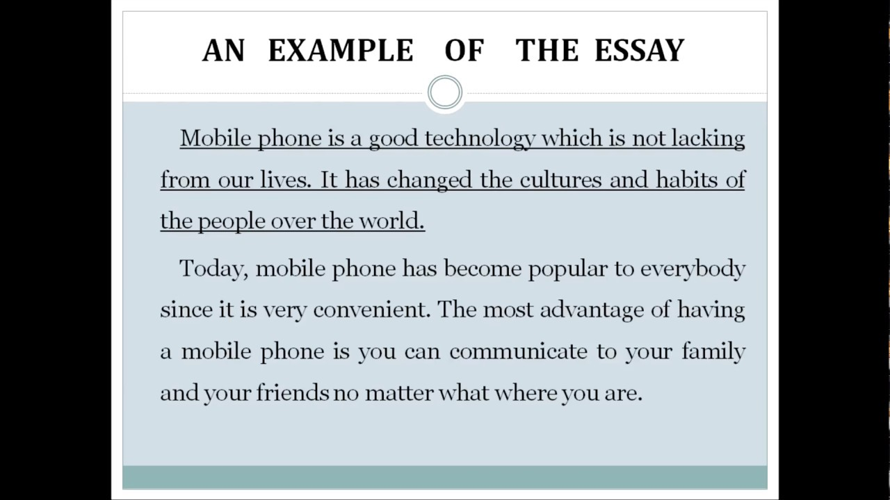 Essay cell phones