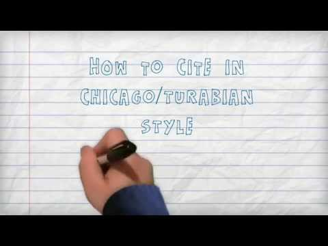 Citing - How to Cite in Chicago/Turabian Style: A Three Minute Tutorial