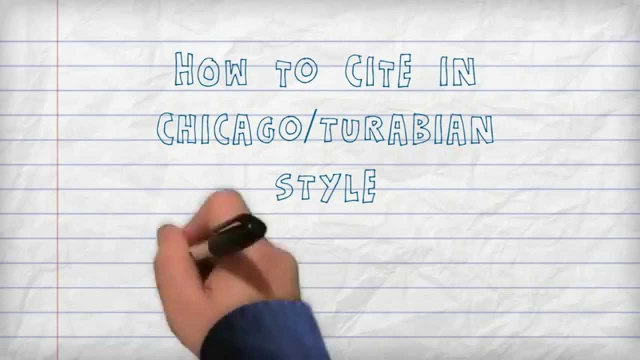 How to write using turabian