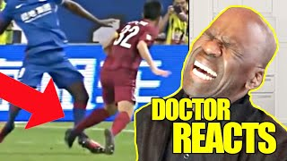 DOCTOR REACTS TO WORLD CUP SOCCER INJURIES | DR CHRIS