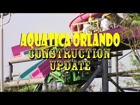 Aquatica Orlando Taumata Racer Construction Update 2.13.17 SLIDE REASSEMBLY!