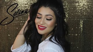SELENA QUINTANILLA MAKEUP & HAIR TUTORIAL