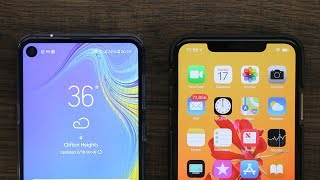 iPhone Notch vs Samsung Punch-Hole Display Comparison