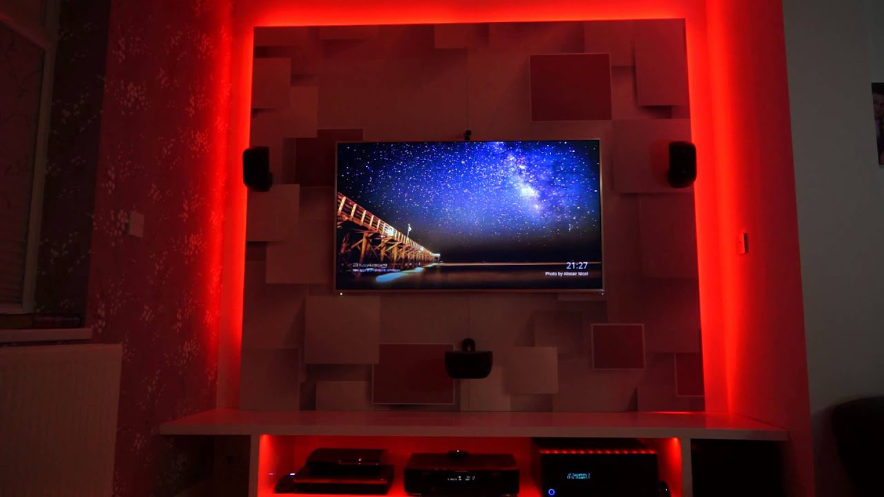 Multicoloured Led Strips On My Htpc Home Cinema Theatre
