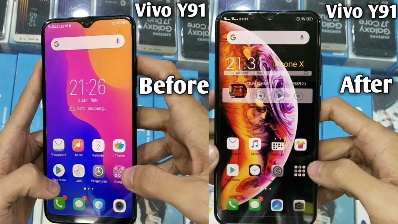 VIVO Y91 Tastes IPhone Thema IPhone On ANDROID
