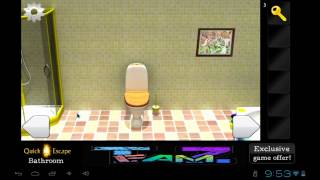 Escape The Bathroom Game Solution quick escape bathroom android game walkthrough - make money from