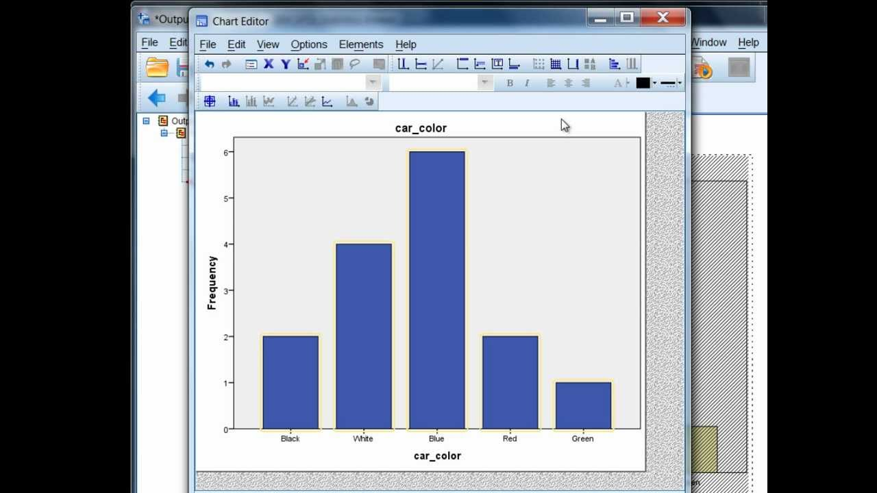 how to create a bar chart in spss bar graph youtube