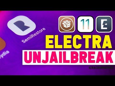 unJailbreak iOS 11.3.1 & 11.4 Rollectra! SemiRestore 11 - Uninstall, Delete & Remove Electra + Cydia