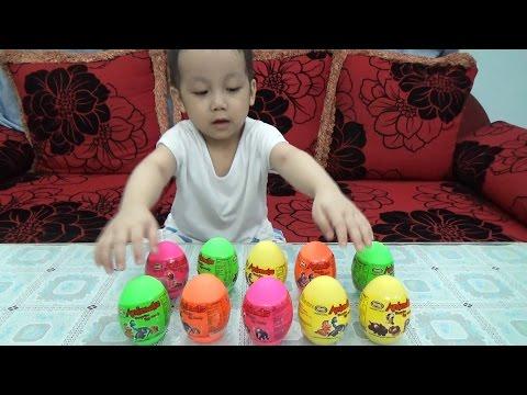 Bóc trứng khủng long Dinosaur Surprise Eggs
