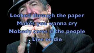 In My Secret Life - Leonard Cohen [LYRICS]