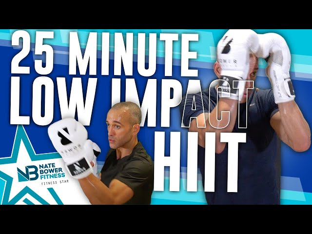 25 Minute// Beginner Boxing HIIT // All Standing // High Intensity // Low Impact // NateBowerFitness