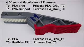 Multi-Material-Druck Tutorial Simplify3D von Multec