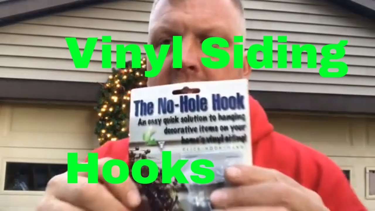 No Hole Hooks Vinyl Siding Hangers Hanging A Christmas