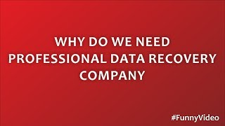 Why do we need Professional Data Recovery Company | Funny Video