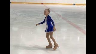 """Аделина Макрушина, первое выступление на коньках на разряд """"Юный фигурист"""" 11 февраля 2018 года."""