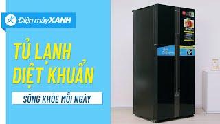 Tủ lạnh Panasonic 550L: ngăn đông mềm diệt khuẩn, siêu tiết kiệm điện (NR-DZ601VGKV) • Điện máy XANH