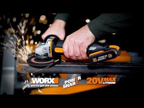 WORX WX803 20V ANGLE GRINDER. UK ENGLISH Www.worx.com