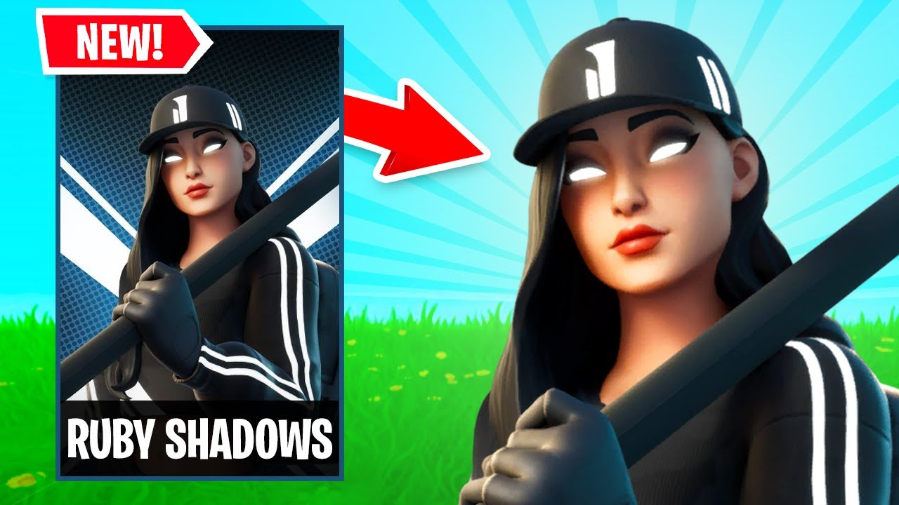 Download NEW RUBY SHADOWS Skin Gameplay in FORTNITE! (Street Shadows Challenge Pack)