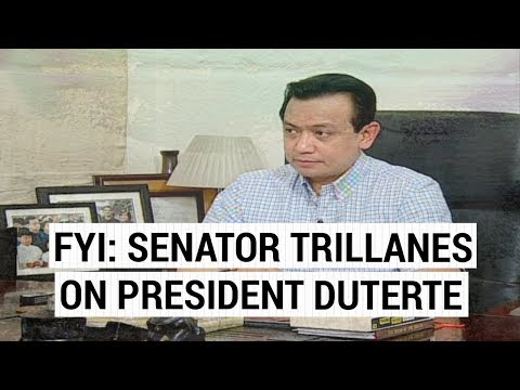 FYI: Sen. Trillanes on President Duterte