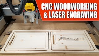 CNC Woodworking & Laser Engraving Machines In The Workshop