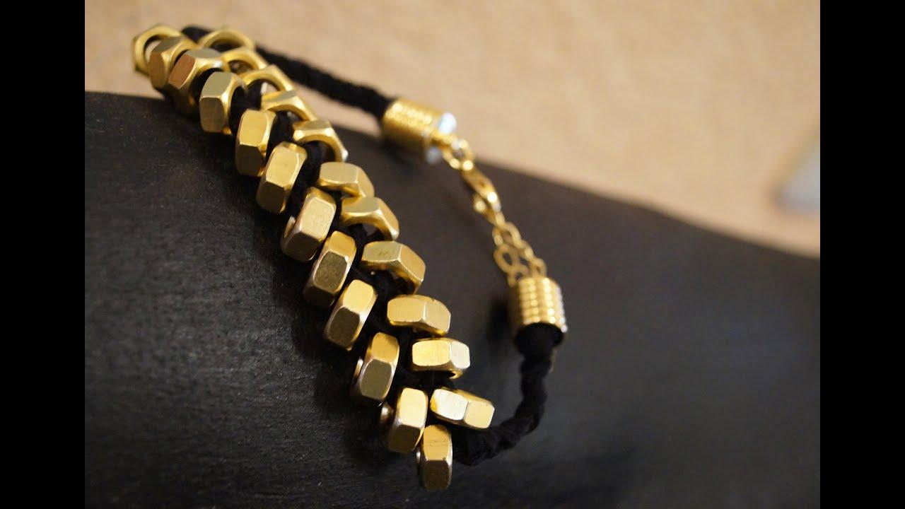 armband aus schraubenmuttern diy bracelet ruthvong youtube. Black Bedroom Furniture Sets. Home Design Ideas