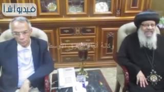 بالفيديو: وفد الكنيسة يهنىء المسلمين بالعيد بمحافظة شمال سيناء
