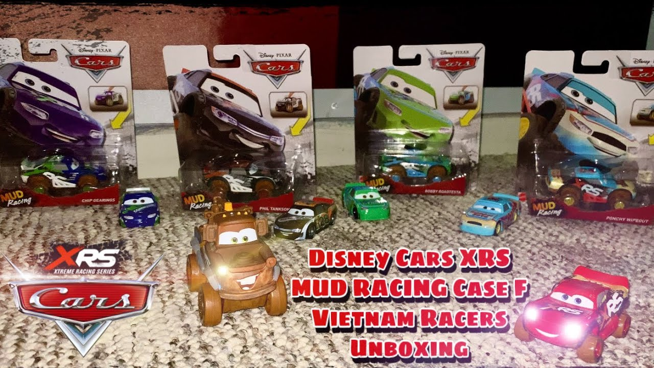 Cars Mud Racing Bobby, Phill, Ponchy, & Chip Vietnam Racers Unboxing | Triple Header Series Ep. 2