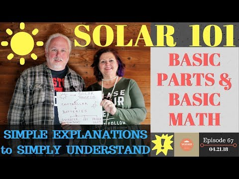 S1.E67-Solar 101. Basic Parts & Basic Math. Simple Explanations to Simply Understand.