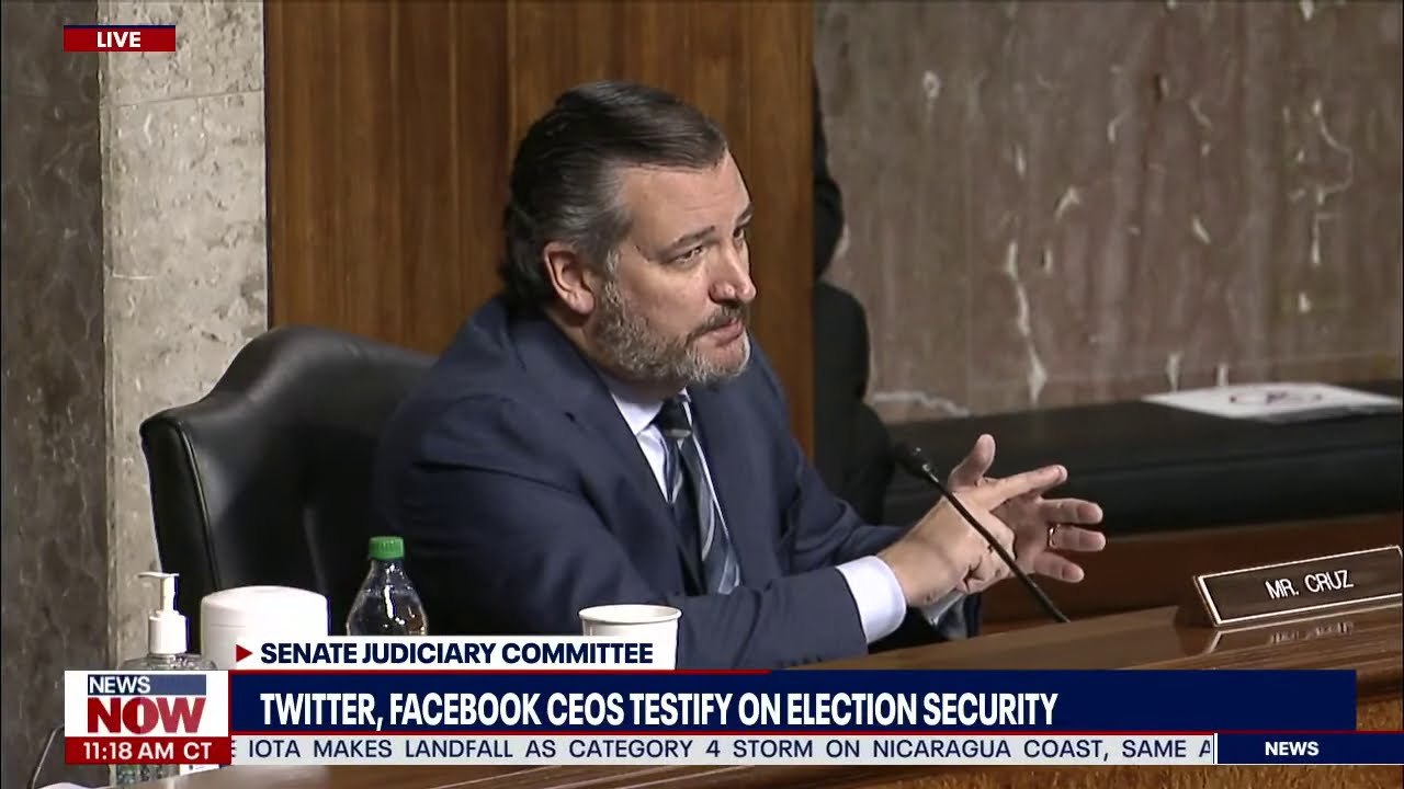 """WHY DO YOU CENSOR US?"" Ted Cruz SLAMS Twitter And Facebook During Election Suppression He"