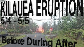 Hawaii Kilauea Volcano Eruption Before During After LATT #7