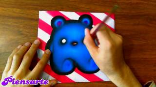 COMO DIBUJAR OSO KAWAII PASO A PASO - How to draw a kawaii bear