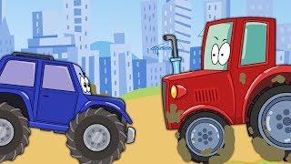 Мастерская БиБи | Топ серий про Трактор, Эвакуатор и Монстр трак | Сборник Мультиков Для Детей