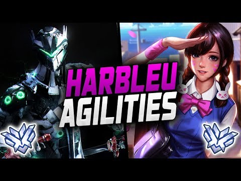 Agilities Pro Genji and Harbleu Impossible D.va! [ OVERWATCH SEASON 12 TOP 500 ] thumbnail
