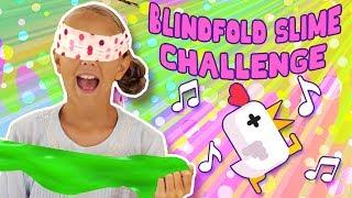 Blindfold Slime Challenge + Chicken Scream | FunPop!