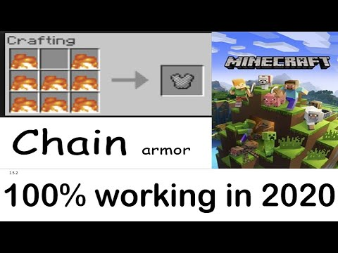 How To Make Chain Armor In Minecraft (NO MODS), 100% WORKING! *CHECK DESC*