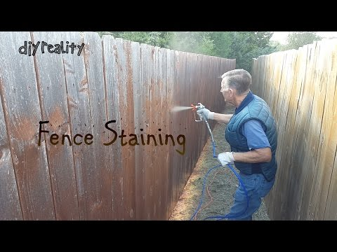 Fence Staining with the Graco Magnum LTS 15