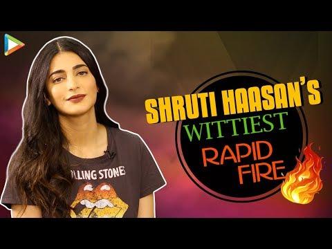 """Shah Rukh Khan, How Are You So LOVELY All the Time?"": Shruti Haasan | Rapid Fire | Salman Khan"