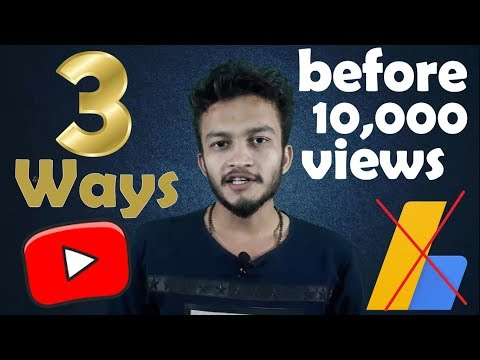 {HINDI} 3 Ways to Make Money on YouTube Without Adsense | Earn money on youtube before 10,000 views
