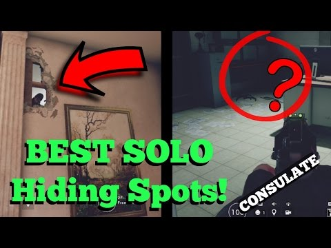 The SOLO Hiding Spots That WORK On CONSULATE - Rainbow Six Siege Velvet Shell