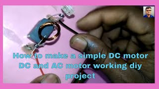 how to make a working dc motor simple trick