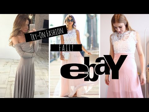 Trying on PROM DRESSES UNDER $15 From EBAY!