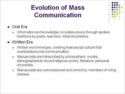 Introduction into Mass Media (Lecture 1 Part 1 Mass Comm)