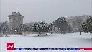 Ειδήσεις Βραδινό Δελτίο   Στα λευκά η βόρεια Ελλάδα από το πέρασμα του χιονιά   23/02/2019