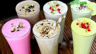 घर पर बनाये ६ तरीके की धसू नयी लस्सी | Flavoured Lassi - Nimbu Pani Lassi , Cold Coffee Lassi
