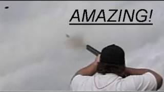 Super Slow-Mo Skeet-Trap Shotgun - See the Pellets