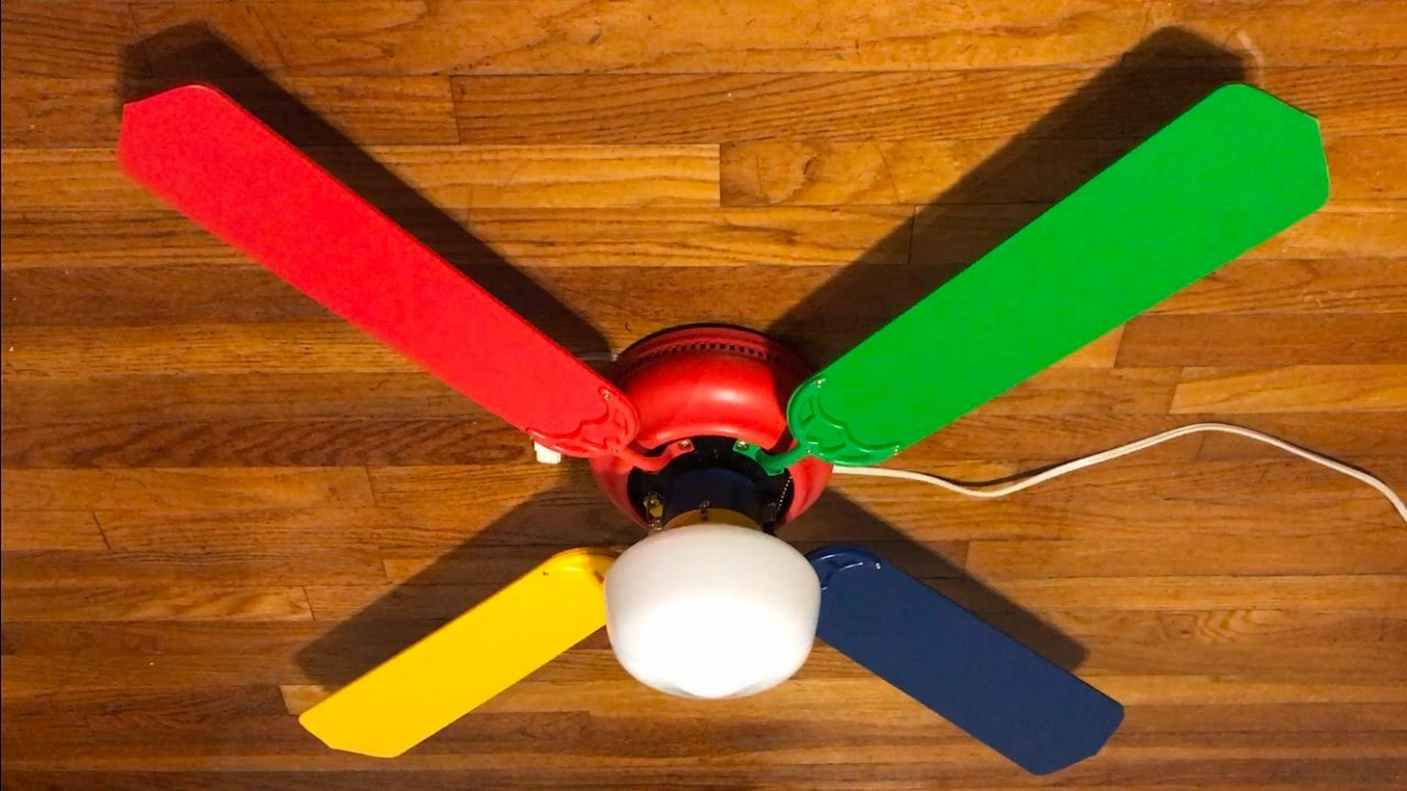 Mainstays Hugger Ceiling Fan 42 Quot Rainbow Youtube
