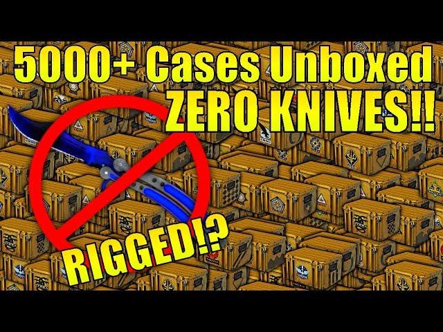 The INSANE 5000 case unboxing that got ZERO KNIVES!!