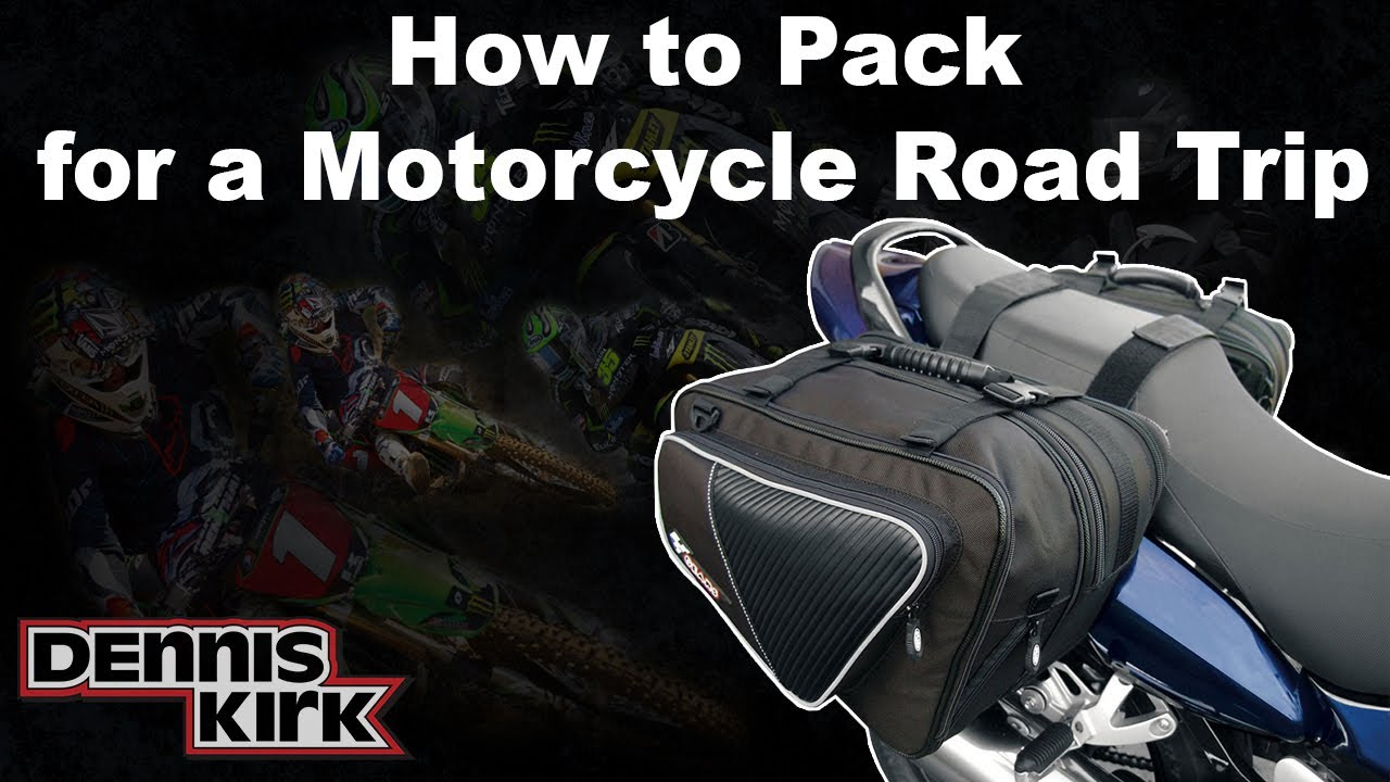 How To Pack For A Motorcycle Trip Using Just One Set Of
